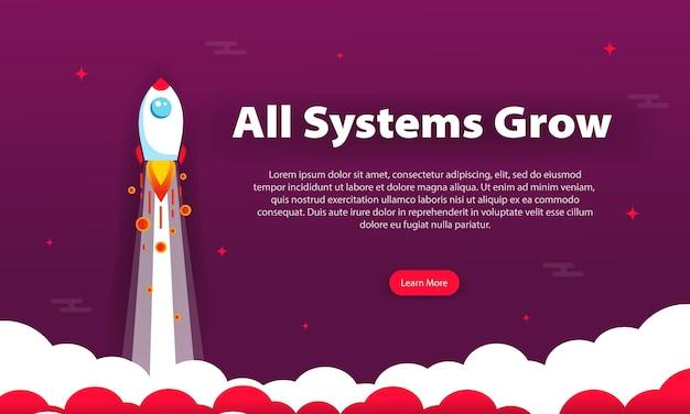 Значок ракеты в плоском дизайне