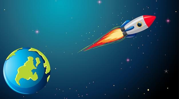 Ракета в космической сцене