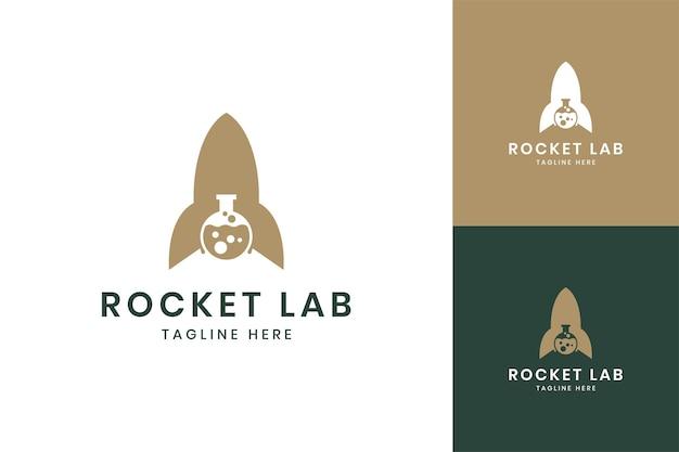 Rocket laboratory negative space logo design