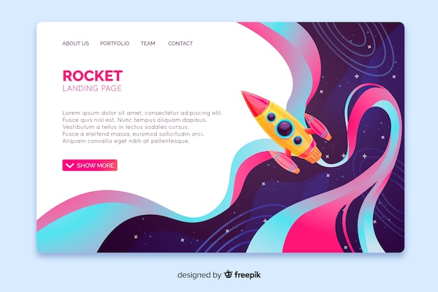 Rocket landing page