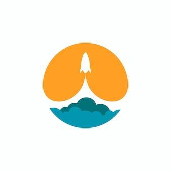 Rocket launch logo design