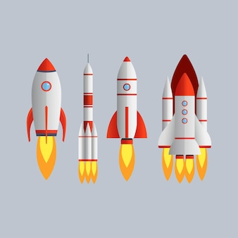 Технология запуска ракет, изолированные на сером