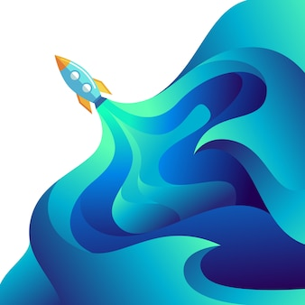Rocket launched isolated gradient liquid boost