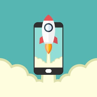 Rocket launches and smart phones start-up new business