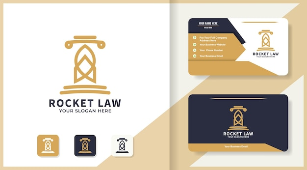 Rocket law logo design and business card