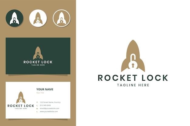 ロケットロックネガティブスペースのロゴデザイン