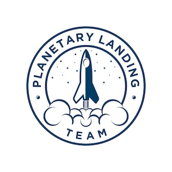 Rocket logo for airlines or web icon