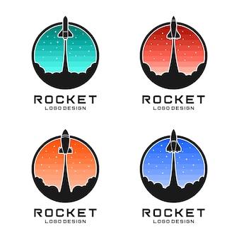 Rocket logo design vector illustration