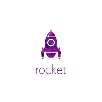 Концепция графического дизайна логотипа ракеты. редактируемый элемент ракеты, может использоваться как логотип, значок, шаблон в интернете и для печати