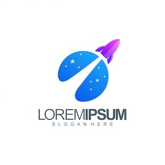 Rocket logo illustration