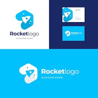 ロケットのロゴのテンプレート
