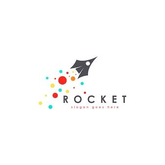 Шаблон логотипа rocket