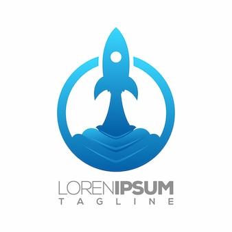 Rocket logo vector