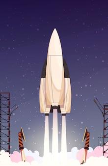 ロケットミサイルの離陸構成