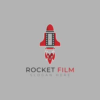 Rocket movie logo design template