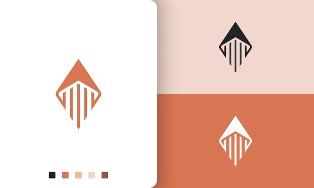 Логотип ракеты или компаса в простой и современной форме