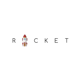 Rocket science space voyager theme vector art