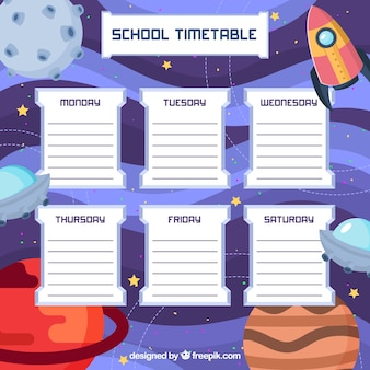 Rocket, space and school timetable