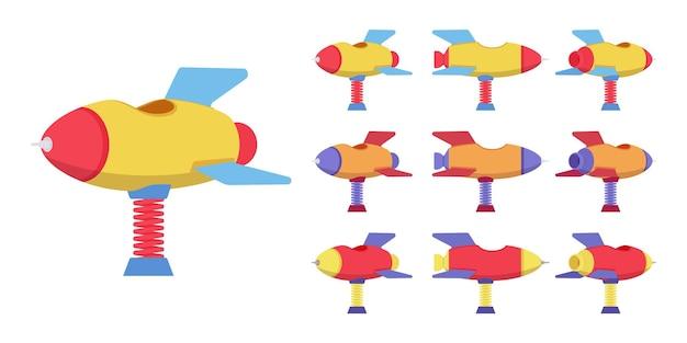 로켓 스프링 라이더 놀이터 세트