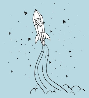 Rocket and stars