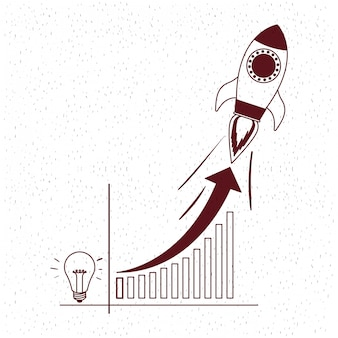 Rocket start up with bulb