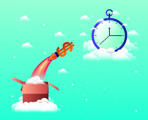 Rocket start up with chronometer