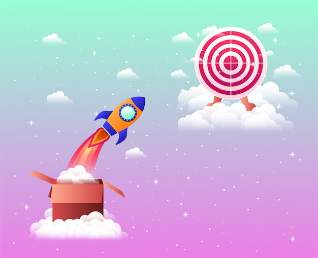 Rocket start up with target