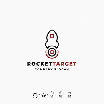 Rocket target logo template