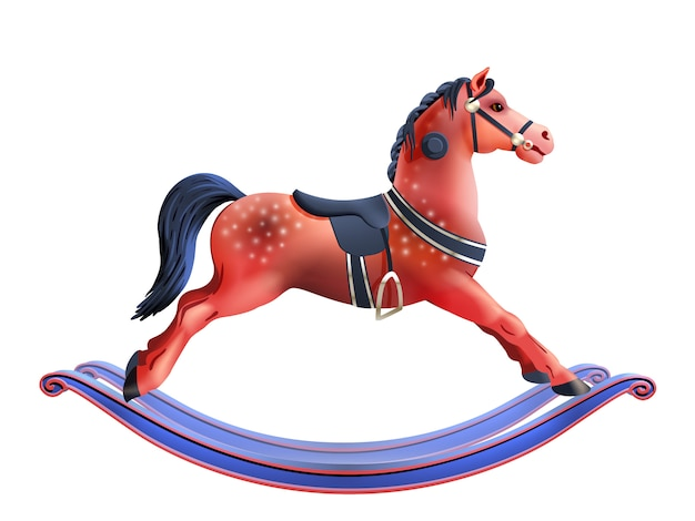 Качающаяся лошадь реалистичная