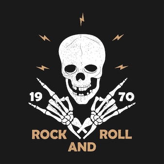 Rocknroll prints for tshirt set of graphic design for clothes tshirt apparel with guitar