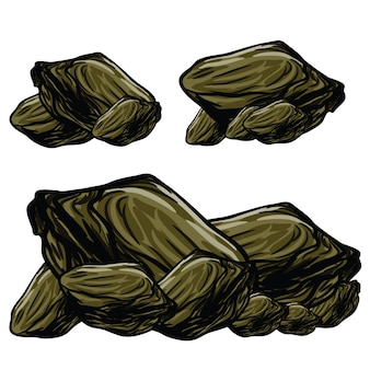 Rocks stone illustration