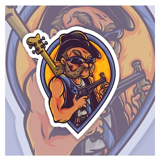 Логотип киберспорта rockstar