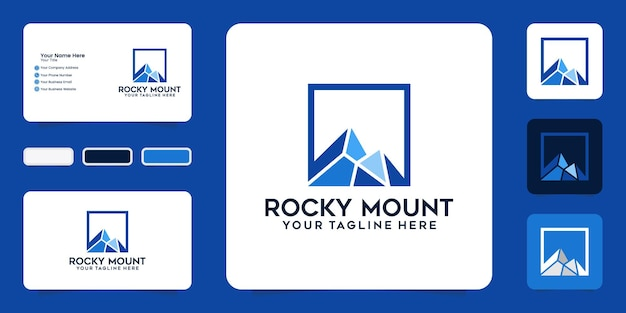 Rocky mountains logo and business card inspiration