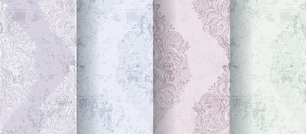 Rococo patterns set