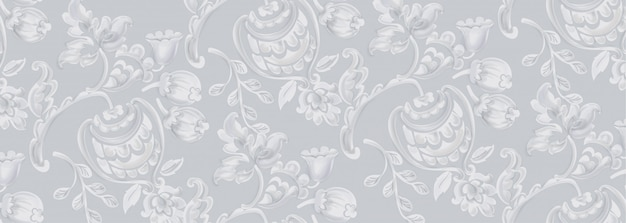 Rococo texture pattern