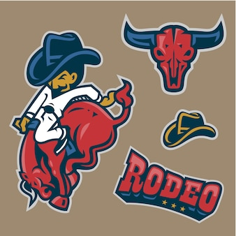 Rodeo character in set