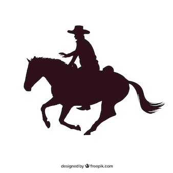 Rodeo cowboy riding a horse