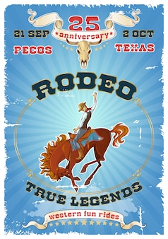 Poster retrò rodeo