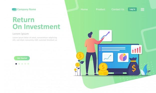 Roi, profit income landing page