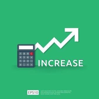Финансирование производительности окупаемости инвестиций концепции roi со стрелкой.