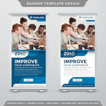 Roll banner display template premium style