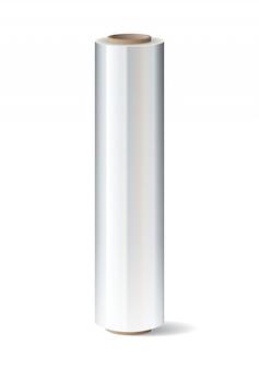 Рулон упаковочной пластиковой стретч пленки