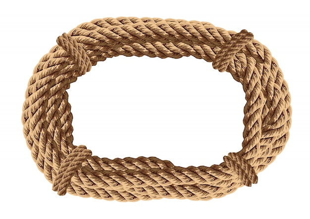 Roll of rope. rope twisted circle.