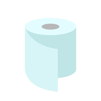 A roll of toilet paper. flat illustration isolated on white.