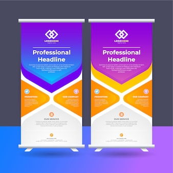 Roll up ad banner