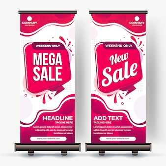Roll up banner best sale modern color