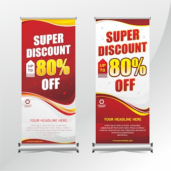 Roll up banner discount design