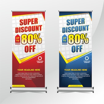 Roll up banner discount template