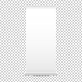 Roll up banner display. blank roll-up banner mockup isolated on transparent background. illustration.