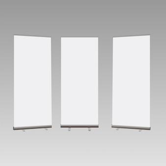 Сверните баннер, изолированные на прозрачном фоне.